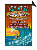 Key West, Florida - Surf Shop Posters by  Lantern Press