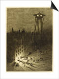 The War of the Worlds, a Martian Machine Contemplates the Drunken Crowd Prints by Henrique Alvim Corrêa