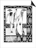 Tristram Drinks the Love Potion Prints by Aubrey Beardsley
