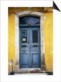 Doorway in Old Venetian Quarter, Hania, Crete, Greece Poster by Diana Mayfield