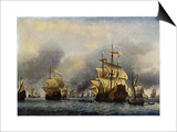 Naval Battle of June 1666 Prints by Willem Van De Velde The Younger