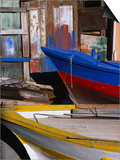 Detail of Hulls of Rinella Fishing Boats, Rinella, Sicily, Italy Posters by Dallas Stribley