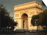 Arc De Triomphe at Dusk, Paris, France Poster by Brent Winebrenner