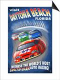 Daytona Beach, Florida - Racecar Scene Posters af Lantern Press