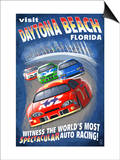 Daytona Beach, Florida - Racecar Scene Posters by  Lantern Press