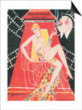 1925 Moulin Rouge programme ça c'est paris Prints by Edouard Halouze