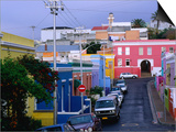 Bo-Kaap, Chiappini Street, Muslim Cape-Malay Area, Wide Angle, Cape Town, South Africa Prints by Ariadne Van Zandbergen
