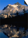 Mt. Shuksan Reflected on Picture Lake, Mt. Baker Scenic Byway, USA Posters by John Elk III