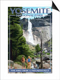The Mist Trail - Yosemite National Park, California Posters by  Lantern Press