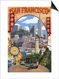 San Francisco, California Scenes Prints by  Lantern Press