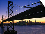Skyline and Bay Bridge from Treasure Island, San Francisco, California, USA Art by Roberto Gerometta