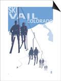 Vail, CO - Ski Lift Prints by  Lantern Press