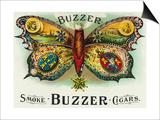 Buzzer Brand Cigar Inner Box Label Prints by  Lantern Press
