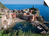 Vernazza and Harbour, Cinque Terre, Liguria, Italy Print by John Elk III