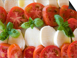 Tomatoes, Basil and Mozzarella Cheese Art by Olivier Cirendini