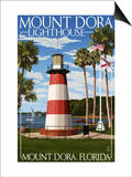 Mount Dora, Florida - Lighthouse Prints by  Lantern Press