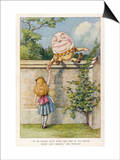 If He Smiled Much More the Ends of His Mouth Might Meet Behind Prints by John Tenniel