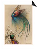 The Girl the Tree and the Bird of Paradise Prints by Warwick Goble