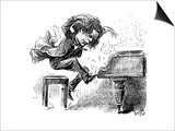 Anton Rubinstein Over-Enthusiastic Pianist Plays a Tune Prints