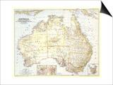 1948 Australia Map Art