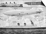 R.M.S. 'Queen Mary', 'Hindenburg' and 'Big Ben', 1936 Posters