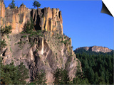 Battleship Rock in the Jemez Mountains, New Mexico Prints by John Elk III