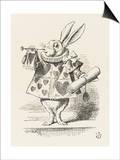 The White Rabbit in Herald's Costume Print by John Tenniel