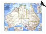 1963 Australia Map Poster