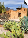 Adobe Mission, Degrazia Gallery in the Sun Prints by Richard Cummins