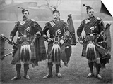 Bagpipers of the 1st Scots Guards Poster