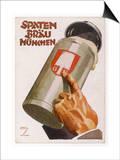 Raising a Seidel of Frothy Spaten-Brau Print by Ludwig Hohlwein