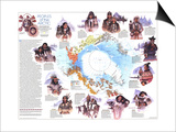 1983 Peoples of the Arctic Map Prints by  National Geographic Maps