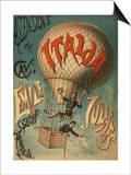 Ascensione del Cave - Emile Julhes, Capitano Areonauta Print
