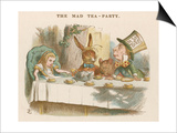 Alice at the Mad Hatter's Tea Party Prints by John Tenniel
