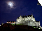 Edinburgh Castle at Night Print by Sean Caffrey