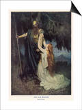 Odin and Brunnhilde Art by Ferdinand Lecke