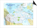 Yukon And Northwest Territories Map 1997 Art by  National Geographic Maps