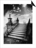 Steps, Chateau Vieux, Saint-Germain-En-Laye, Paris Print by Simon Marsden