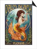Palm Beach, Florida - Mermaid Scene Posters by  Lantern Press
