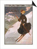 Come to Chamonix for the Very Finest Skiing Posters by Abel Faivre