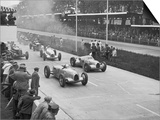 The German Grand Prix Won by Nuvolari Driving a Modified Alfa P.3 Prints