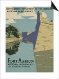 Fort Marion National Monument, St. Augustine, Florida, c.1938 Posters
