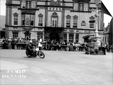 Vincent HRD, J.M. West in Isle of Man TT, Parliament Square Ramsey Posters