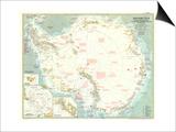 1957 Antarctica Map Art
