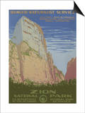 Zion National Park, c.1938 Poster