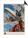 "An Armstrong Whitworth ""Ensign"" of Imperial Airways Takes Off Posters"
