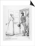 """I Have Not an Instant to Lose"" Says Elizabeth Bennet to Mr. Darcy Poster by Hugh Thomson"