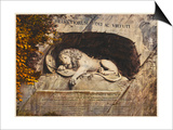 Lucerne: the Lion Sculpture Posters