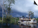 Amazon Riverboat Near Porto Velho, Porto Velho, Rondonia, Brazil Posters by Jane Sweeney