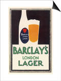 Barclay's London Lager Posters